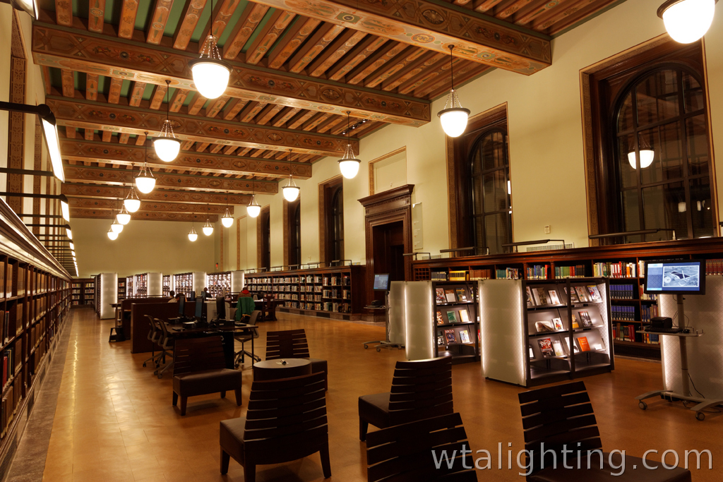 st louis public library central branch interior lighting. Black Bedroom Furniture Sets. Home Design Ideas